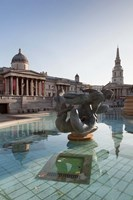 National Gallery, St Martin-in-the-Fields, Trafalgar Square, London, England Fine Art Print