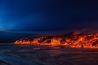 Glowing Lava, Iceland Fine Art Print