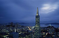 Transamerica Pyramid, Coit Tower, San Francisco, California Fine Art Print