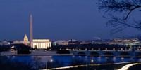 Washington Monument, Lincoln Memorial, Capitol Building, Washington DC Fine Art Print