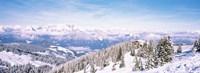 Ski resort, Reith Im Alpbachtal, Tyrol, Austria Fine Art Print