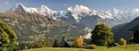 Lauterbrunnen Valley with Mt Eiger, Switzerland Fine Art Print