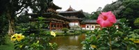 Buddhist Temple, Byodo-in Temple, Koolau Range, Oahu, Hawaii Fine Art Print