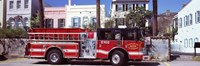 Fire Truck, Charleston, South Carolina Fine Art Print