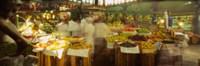 Fruits And Vegetables Market Stall, Santiago, Chile Fine Art Print