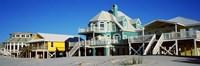 Beach Front Houses, Gulf Shores, Baldwin County, Alabama Fine Art Print