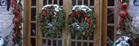 Christmas Wreaths on Doors Fine Art Print