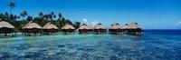 Beach Huts, Bora Bora, French Polynesia Fine Art Print