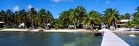 Oceanfront Pier, Caye Caulker, Belize Framed Print