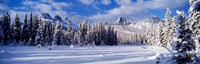Three Sisters Bow Valley Kananaskis Country Alberta Canada Fine Art Print