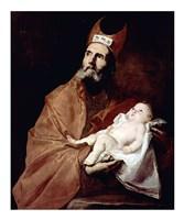 Saint Simeon with the Christ child Fine Art Print