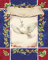Mistletoe Holiday Dove Fine Art Print