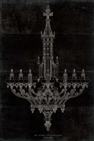 Ornamental Metal Work Chandelier Fine Art Print