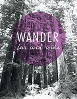 Wander Far and Wide Framed Print