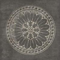 Rosette I Gray Fine Art Print