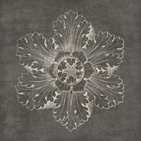 Rosette V Gray Framed Print