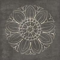 Rosette VII Gray Fine Art Print