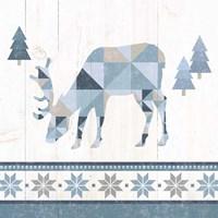Nordic Geo Lodge Deer II Framed Print