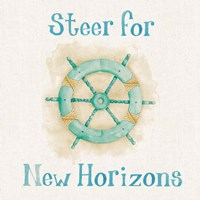 New Horizons I Words Fine Art Print