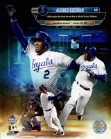 Alcides Escobar 12th Inside-the-park Home Run in world Series History Composite Fine Art Print