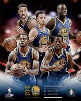 Golden State Warriors 2015-16 Team Composite Fine Art Print
