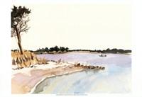 Minimalist Coastline I Framed Print