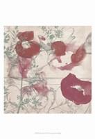 Floral Flutter II Framed Print