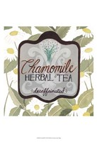 Tea Label IV Framed Print