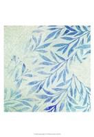 Cerulean Foliage I Fine Art Print