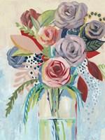 Roseate Posy I Fine Art Print