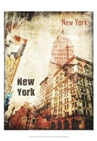 New York Grunge I Framed Print