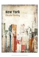 New York Grunge IV Framed Print