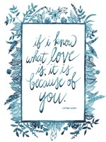 Love Quote II Framed Print