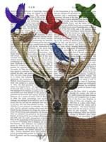 Deer & Birds Nests Framed Print