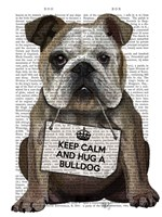 Hug a Bulldog Framed Print