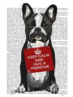 Hug a Frenchie Framed Print