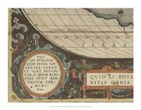 Antique World Map Grid VII Framed Print