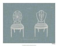 Hepplewhite Chairs I Fine Art Print