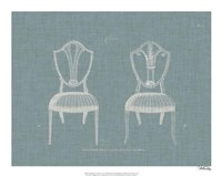 Hepplewhite Chairs II Framed Print
