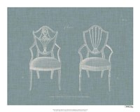 Hepplewhite Chairs III Framed Print