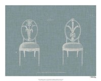 Hepplewhite Chairs IV Framed Print