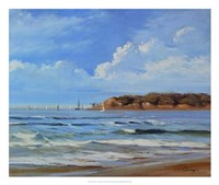 Point Loma - View from Coronada Shores Fine Art Print