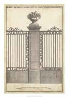 Antique Decorative Gate I Framed Print