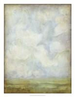 Aged Abstract Landscape I Framed Print