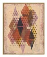 Inked Triangles II Framed Print