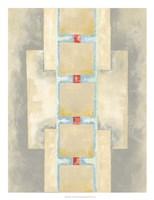 Squares in Line II Framed Print