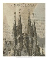 Remembering Barcelona Framed Print
