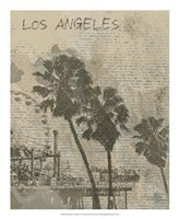 Remembering Los Angeles Framed Print