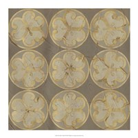 Golden Trellis IX Framed Print