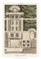 Plan De La Villa Barberini Framed Print